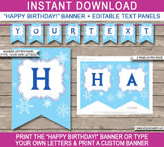 Instant Home Design Download by Diy Diy Happy Birthday Banner Template Home Design Planning
