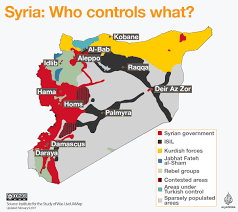 Map Of Syria by A Map Of The Syrian Civil War That Shows Who Controls What After