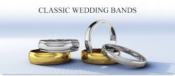 classic rings bands images Classic gold and platinum wedding bands jpg