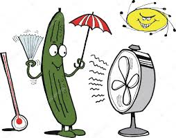 Cool Stock by Vector Cartoon Showing Funny Cucumber Keeping Cool U2014 Stock Vector