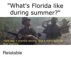Florida Rain Meme - what s florida like during summer one day it started raining and it
