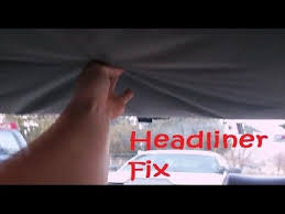 Car Interior Cloth Repair How To Fix Car U0027s Headliner With Carpet Tape Tips Made Easy