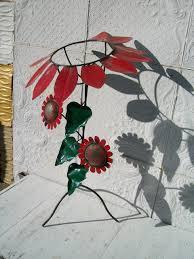 Gazing Globe Pedestal Wrought Iron Sunflower Gazing Ball Stand