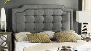 sapphire grey tufted linen headboard headboards furniture by the crown jewel of the upper east side the redesign of manhattan s most elite stay inspired this contemporary headboard upholstered in a deluxe grey