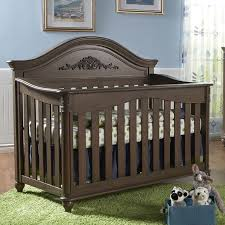 Pali Cribs Bed U0026 Bedding Dark Brown Pali Crib With Pretty Accent For Nursery