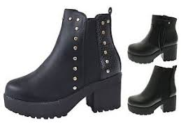 ankle boots uk ebay mid chunky block heel chelsea low ankle boots platforms