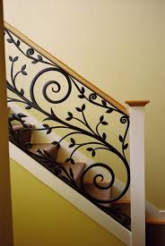 Iron Grill Design For Stairs Modern Homes Iron Stairs Railing Designs Home Interior Dreams
