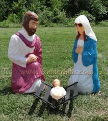 outdoor nativity set outdoor nativity holy family size lighted nativity set yonder