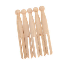 new 10pcs natural wooden peg dolls wood vintage clothespin
