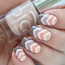ombre chevron nail art with video indigo nails