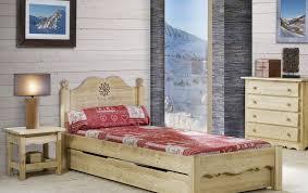 chambre en pin lit en pin massif une place de 90 cm rangement en dessous du lit