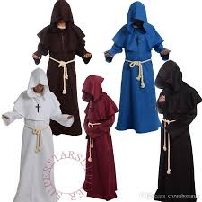 Medieval Halloween Costumes Brand Friar Medieval Cowl Hooded Monk Renaissance Priest Robe
