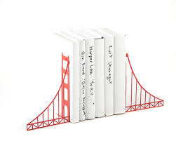 metal bookends golden gate bridge cool home decor gift