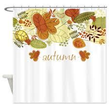 autumn leaves 4 a shower curtain kawelamolokai