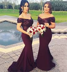 bridesmaid gowns sparkly mermaid burgundy bridesmaid dresses sequin unique