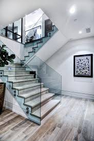 Glass Staircase Design Impressive Modern Glass Staircase Designs With Nice Side Glass