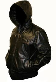 men u0027s hooded leather jacket hooded leather jacket in quality