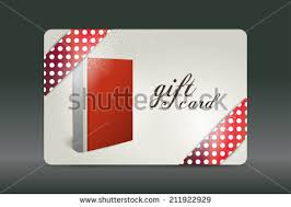 gift card book gift card book design stock vector 211922929