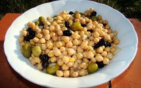 cuisiner pois chiches salade de pois chiches aux olives recette de salade de pois