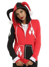 spirit halloween harley quinn dc comics harley quinn cosplay girls hoodie topic