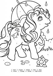 color number tiger pony coloring color number