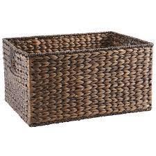 carson espresso wicker large shelf storage baskets storage