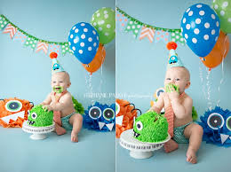 ryder u0027s one 1st birthday cake smash monster theme stephanie