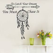 wall decals quote to catch your vinyl sticker amulets feather