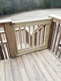 diy wood deck gate deckgate literally how to make a deck gate