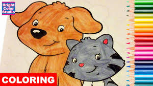 coloring pages puppy and kitten crayola coloring book colored