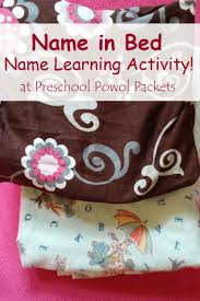 preschool lined writing paper name in bed puzzle name writing activity preschool powol packets name in bed puzzle name writing activity