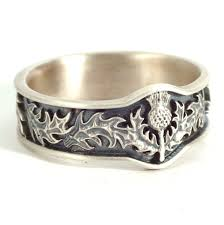 scottish thistle jewelry 925 sterling thistle ring