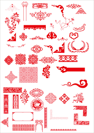 china style ornaments with frame vector free vector in