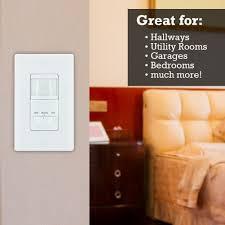 ge 2 pack motion sensor on off light switch timer white ceiling