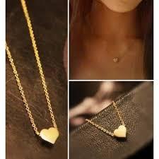 shaped necklace images Cute gold heart shape pendant necklace fashion necklaces jpg