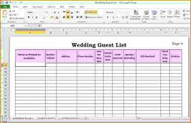 Wedding Invitation Excel Template Wedding Guest List Manager Canelovssmithlivecowedding Guest List