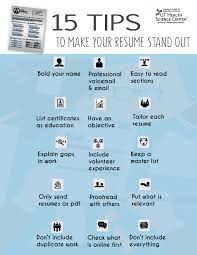 resume stand out top 15 tips to help your resume stand out graduate of