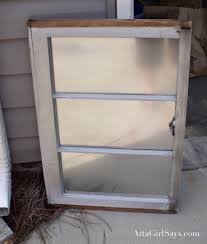 diy faux mercury glass window pane mirror atta says