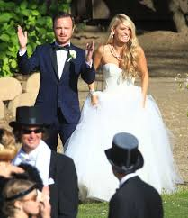 Celebrity Brides Who Wore Unconventional the ultimate celebrity wedding gallery aaron paul themed