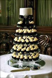 black and white wedding black white wedding cupcake tower i had two weddings at flickr