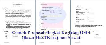 membuat proposal bazar proposal singkat kegiatan osis bazar hasil kerajinan siswa guru