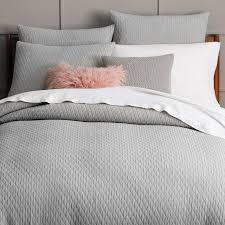 All Zipped Up Duvet Covers Organic Ripple Texture Duvet Cover Shams Platinum West Elm