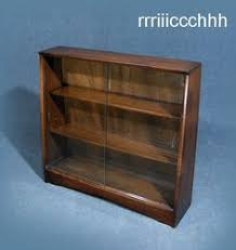 little retro display cabinet bookcase with sliding glass doors