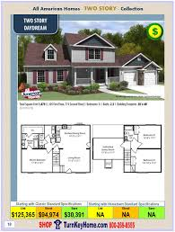 House Building Plans And Prices by Daydream All American Modular Home Two Story Collection Plan Price