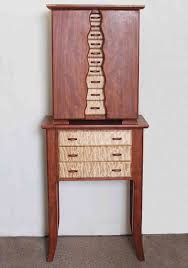 Jewelry Armoire With Lock And Key This Beautiful Armoire Jewelry Box Is Handmade Of Exotic Woods And