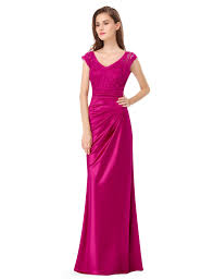 evening gown v neck cap sleeve ruched evening gown