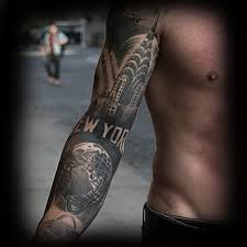 Tattoo Pictures Of New York | 60 new york skyline tattoo designs for men big apple ink ideas