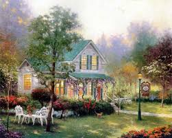 thomas kincade home living cottages of love a tribute to