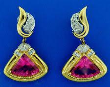 Diamond Chandeliers Diamond Chandelier Yellow Gold 18k Fine Gemstone Earrings Ebay
