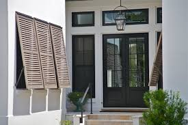 Exterior Glass Front Doors by Transparent Double Glass Front Doors With Black Wooden Frame Plus